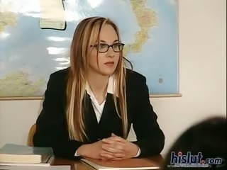 Babe Glasses Pornstar School Teacher