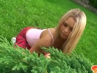 Blonde Cheerleader Cute Outdoor Teen