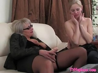 Lesbian Mom Stockings Strapon Teen