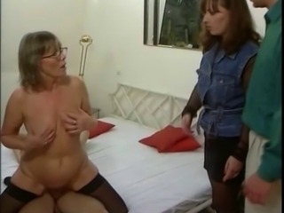 German mom and not her daughter in some groupsex action