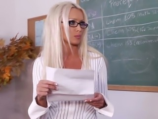 Blonde Glasses  Pornstar School Teacher