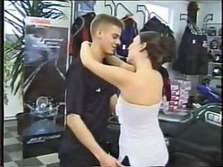 German Stepbrother an Stepsister have sex in autosalon