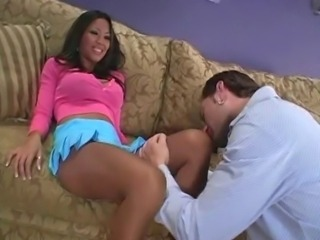 Babe Ebony Feet Fetish Legs Pantyhose