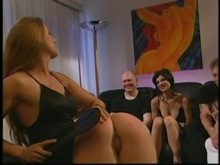 Ass spanking in the sex orgy