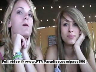 Sara and Rilee from ftv girls tyro lesbian teens kissing in public