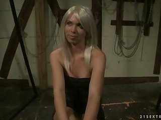 Beautiful blonde getting punished