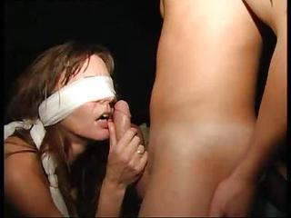 Blindfolded Girl In An Orgy