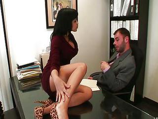 Babe Legs Office Secretary