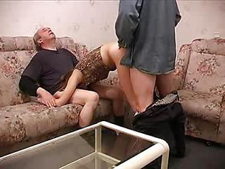 Amateur Blowjob Clothed Doggystyle Old and Young Teen Threesome