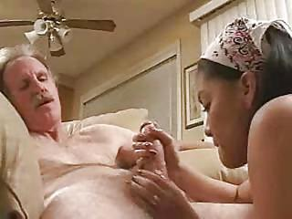 Asian Handjob Interracial Old and Young Teen