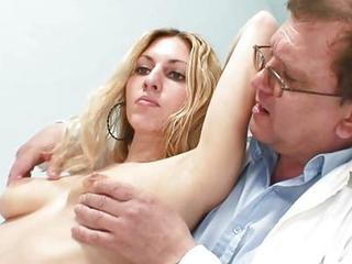 Blonde Cute Doctor Nipples Old and Young Teen