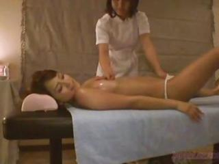 Asian Babe Japanese Lesbian Massage Oiled