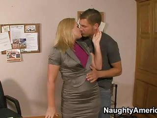 Filthy Milf Sucks A Cock In The Office