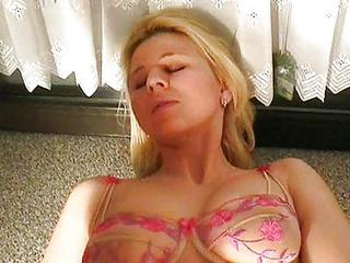 Amateur Anal Blonde European German Lingerie