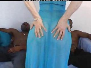 Ass Interracial  Threesome
