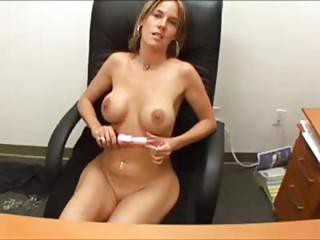 Big Tits Masturbating  Office Secretary Toy