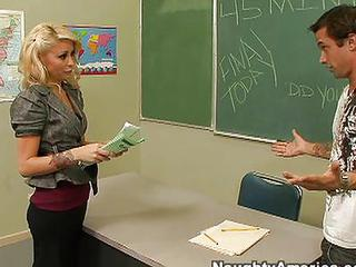 Blonde  School Teacher