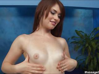 Beautiful Chick Ashlyn With Sexy Perky Tits And Onion Ass Shows Off Her Hot Body Before Giving Massage Pleasure To A Guy. She Wears Black Bra And Panties To Seduce A Guy.