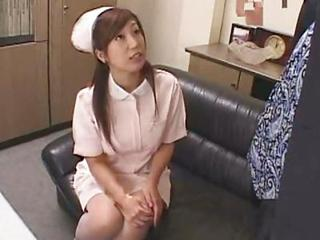 Japanese Nurse Fucks Pitch-black Part I