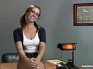 Babe Cute Glasses Student