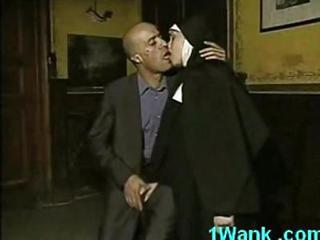 Horny Nun Sucking And Fucking Huge Cock