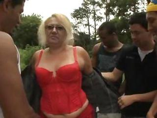 Mature Granny Blonde Victoria Gangbang Outdoor Sex