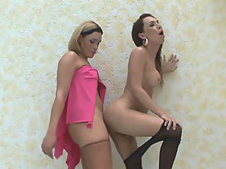 Alexia&Carol horny trannies in action