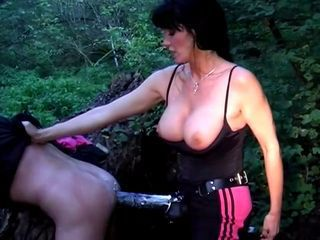 vulgar dark haired bombshell german mistress