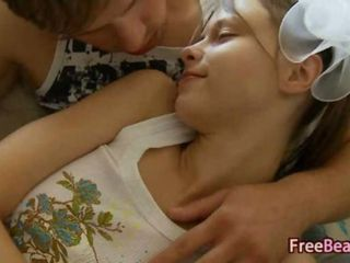 White princess banged by boyfriend on the couch hard