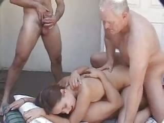 Gangbang For Blindfolded Beauty!