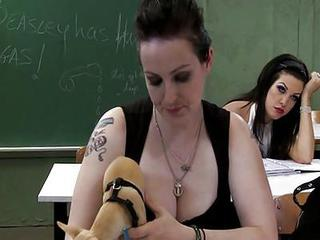 Hot Schoolmistress And Bad Sexy Schoolgirl