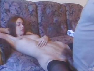 Lengthy Hirsute Twat Kimmie Doing Dirty Fuck With Old Man