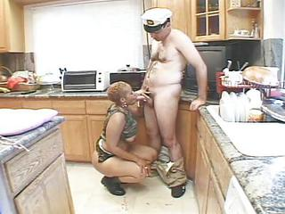 Hot Military Sex As White And Black Armed Forces Fuck As One