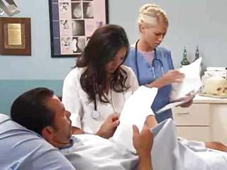 Amazing Cute Doctor  Nurse Pornstar Threesome Uniform