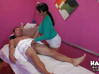 Mika Tan Is A Skillful Asian Masseuse With Nice Warm Hands. And She Us...