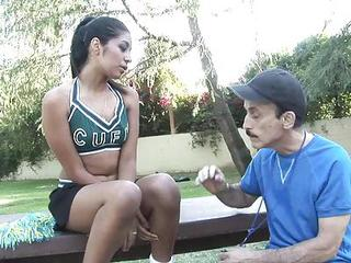 Cheerleader Interracial Old and Young Outdoor Teen Uniform