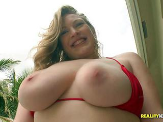 Vicky Vixen With Big Boobs And Massive Natural Tits Strips Out Of Her...