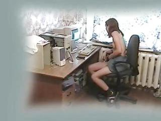 My Teen Girlfriend Fingering At Computer. Hidden Cam