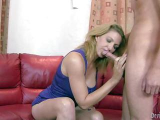 Roxanne Hall Is His Girlfriends Fuck Hungry Mom. He Stands Still As Sh...