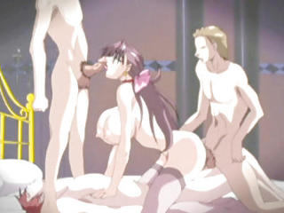 Big Titted Anime Slut Hard Foursome Fucked