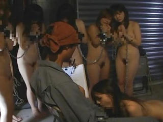 Bizarre Bdsm Japanese Terrene Farm Group Blowjob Interrogation