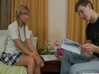 Pigtail Russian School Sister Teen