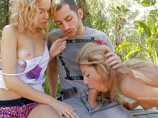 Nadin And Stephanie Are Two Dick Hungry Teen Blondes That Satisfy Thei...
