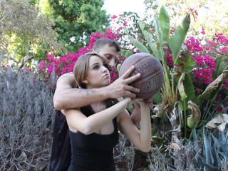 Basketball and boner with hot babe Ariel Lee