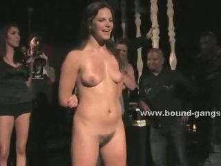 Beautifull babe choking with group of cocks in amazing brutal deepthroat and extreme anal sex video