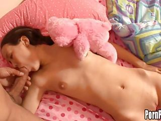 Asin sweetheart Amai Liu gets her mouth attacked by a cock while sleeping