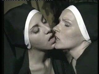 Dirty nuns in threesome act