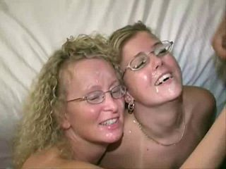 2 Blonde Milfs in Swinger Club