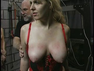 Thick big ass bdsm lesbian is tortured by her master and mistress in dungeon