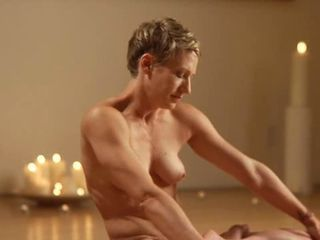 Blonde and Brunette - Nude Yoga